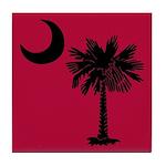 Black and Garnet South Carolina Flag Tile Coaster