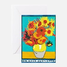 Cute Red sunflowers Greeting Card