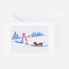 IWS and Snowman #2 Greeting Cards