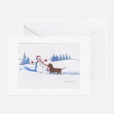 IWS and Snowman #6 Greeting Cards