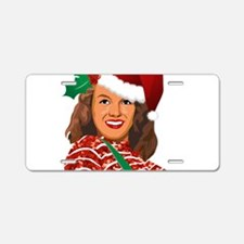 christmas norma jean Aluminum License Plate