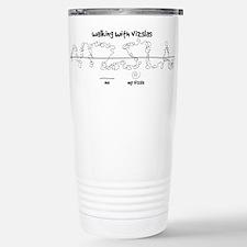Cute Wirehaired vizsla dog Thermos Mug