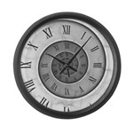 Marble Spiral Large Wall Clock