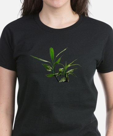 green lucky bamboo leaves. T-Shirt