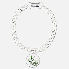 green lucky bamboo leave Bracelet