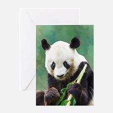 Painting Panda Bear Long Hui Greeting Cards