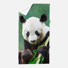 Painting Panda Bear Long Hui Beach Towel