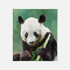 Painting Panda Bear Long Hui Throw Blanket