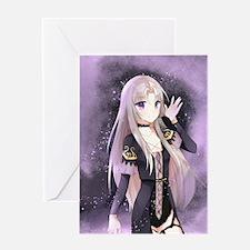Beautiful anime girl Greeting Cards