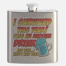 Cute New year Flask