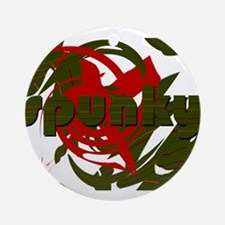 Spunky Round Ornament