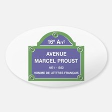 Avenue Marcel Proust, Paris, France Sticker (Oval)