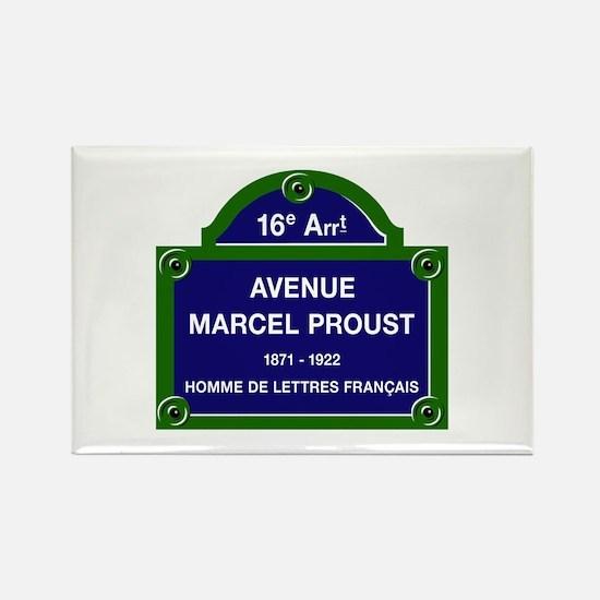 Avenue Marcel Proust, Paris, Fran Rectangle Magnet