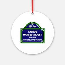 Avenue Marcel Proust, Paris, France Round Ornament