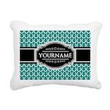 Add text Rectangle Canvas Pillows