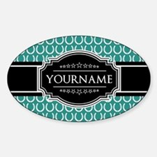 Teal and Black Horseshoe Personaliz Decal