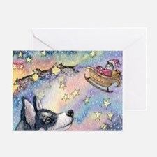 Husky Sleigh Dogs Greeting Cards