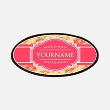 Personalized Name Gift Floral Pattern Patch