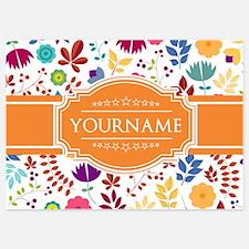 Personalized Name Monogram Floral Invitations