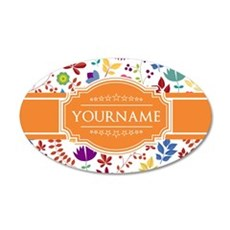 Personalized Name Monogram F Wall Decal