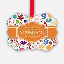 Personalized Name Monogram Floral Ornament