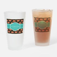 Chic Floral Custom Gifts Personaliz Drinking Glass