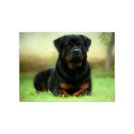 Rottweiler 5u0027x7u0027Area Rug