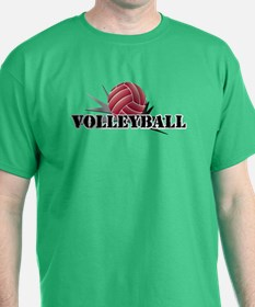 Funny Volleyball dig set hit block win! T-Shirt