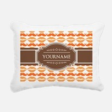 Personalized Name Mustac Rectangular Canvas Pillow