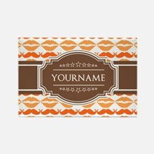 Personalized Name Mustache Rectangle Magnet