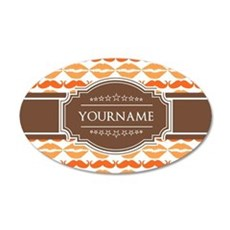 Personalized Name Mustache Wall Decal