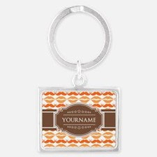 Personalized Name Mustache Landscape Keychain