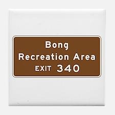 Bong Recreation Area, WI Tile Coaster
