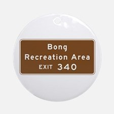 Bong Recreation Area, WI Round Ornament
