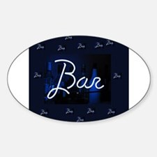 bar sign neon blue party sign Decal