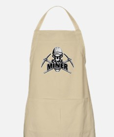 Coal Miner Skull and Crossed Pickaxes Apron