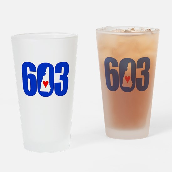 603 NEW HAMPSHIRE LOVE Drinking Glass