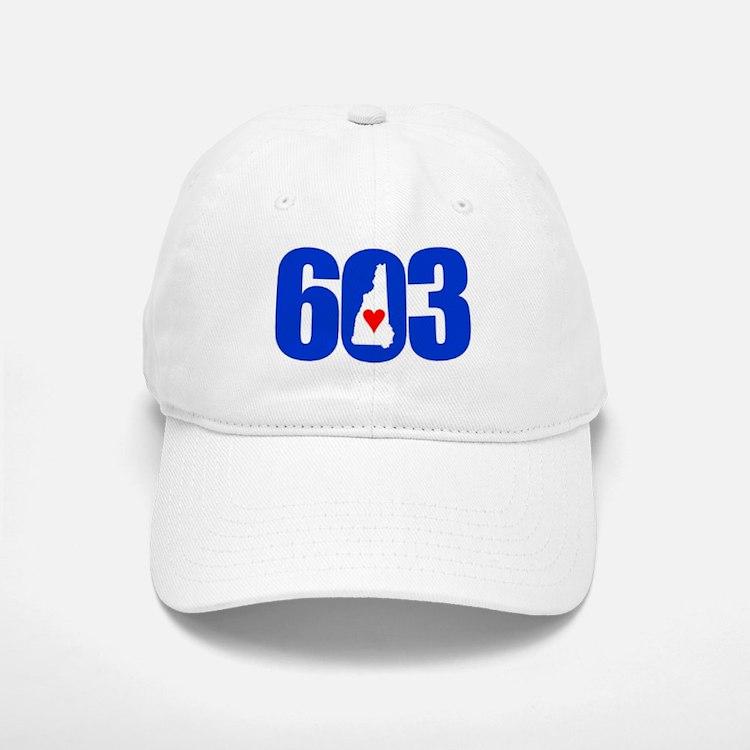 603 NEW HAMPSHIRE LOVE Baseball Baseball Baseball Cap