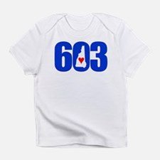 603 NEW HAMPSHIRE LOVE Infant T-Shirt