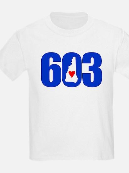 603 NEW HAMPSHIRE LOVE T-Shirt
