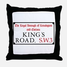 King's Road, London, UK Throw Pillow