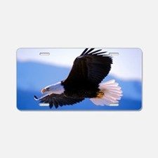 Bald Eagle flying Aluminum License Plate