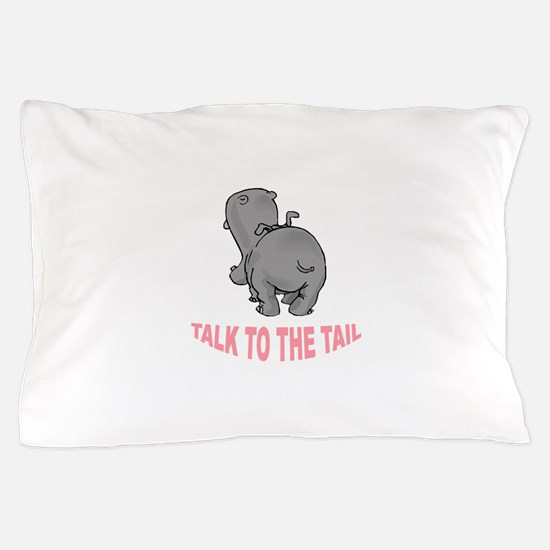 Hippo Talk To The Tail Pillow Case