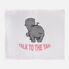 Hippo Talk To The Tail Throw Blanket