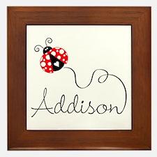 Ladybug Addison Framed Tile