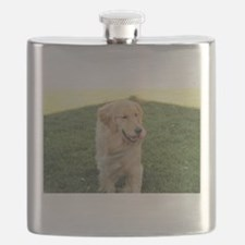 golden on grass Flask