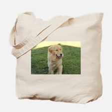 golden on grass Tote Bag