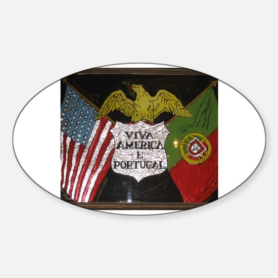 Portugese American Decal