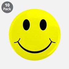 "Smiley Face 3.5"" Button (10 pack)"