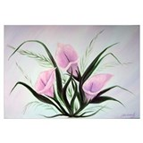 Lilies Wrapped Canvas Art